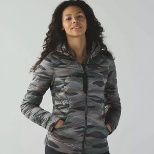 Lululemon Fluffin Awesome  Camo Puffer